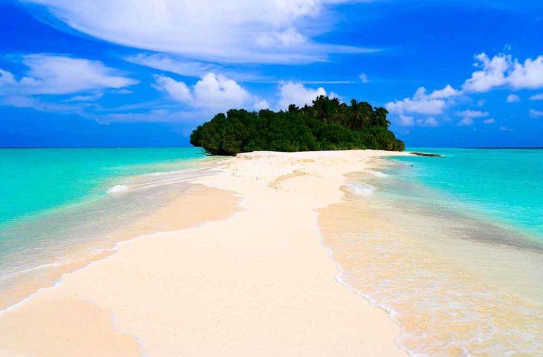 Maldive Rasdhoo la periferia dell'oceano